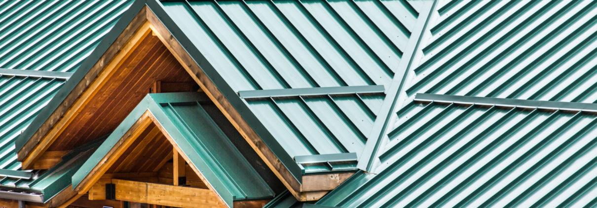 Green Metal Roof on Wood Building